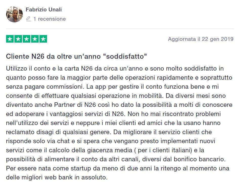 n26 opinioni