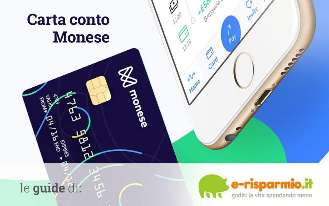 Monese: come funziona la carta conto, costi e opinioni